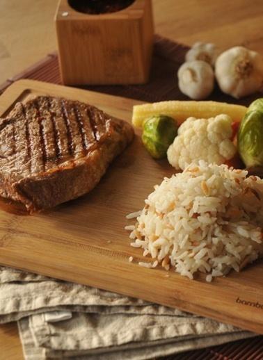 Bambum Diego Kesme  Steak Tahtası Büyük 30x21 Cm Renkli